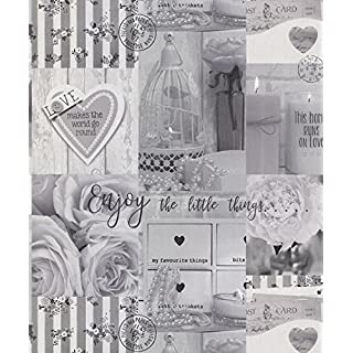 Arthouse Diamond Rose Mono Wallpaper 259901 - Glitter Photo Floral Novelty Love