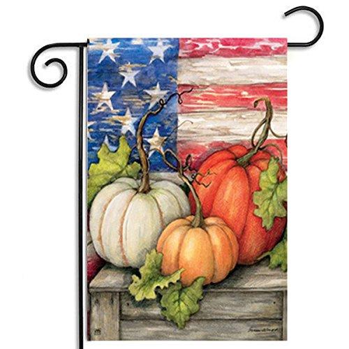 Bazaar 30x45cm Halloween Polyester Kürbis USA Flagge Garten Feiertags Dekoration