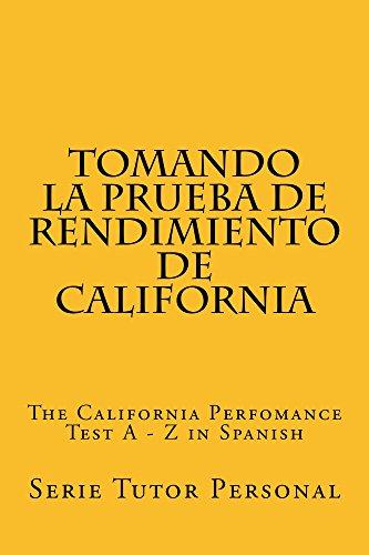 Tomando la Prueba de Rendimiento de California: A Jide Obi law book por Serie Tutor Personal
