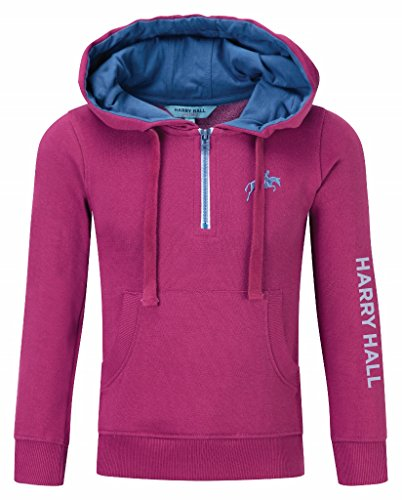 harry-hall-kimberworth-felpa-da-bambina-con-cappuccio-rosa-rose-pink-navy-blue-5-6-anni