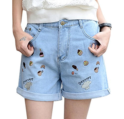 Sommer-Kurzschluss-Art- und Weisekurzschlüsse kurze Frauen-Hosen Azurblau