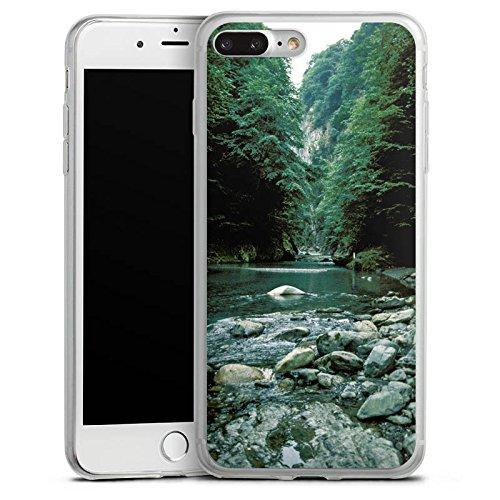Apple iPhone 8 Slim Case Silikon Hülle Schutzhülle Fluß Wald Flusslauf Silikon Slim Case transparent