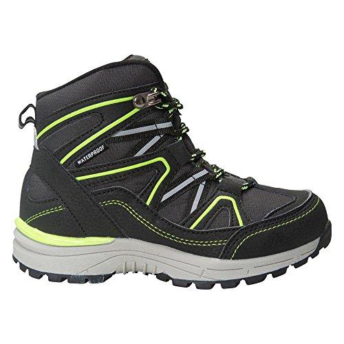 Mountain Warehouse Stride Wasserdichte Stiefel für Jugendliche Bergschuhe Wanderschuhe Jungen Mädchen Grau 36 EU