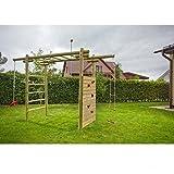 Klettergerüst Classic aus Holz für Kinder im Garten 3,6x1,2x2,3 von Gartenpirat