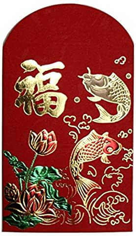 Rouge chinois enveloppes –