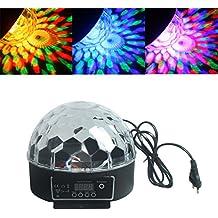 ALED LIGHT®Hermosa luz RGB LED Efecto bola de cristal mágica DMX DJ del disco de iluminación de la etapa de reproducción y Plug
