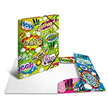 HERMA Elastic Folder Artline with Comics Motif, A3, Sturdy Plastic, with Inner Print, 1 Span Folder