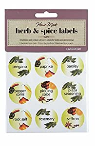 Home Made Herb and Spice Bottle Labels - Pack of 45
