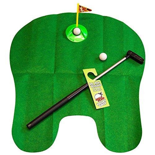 zanasta Toiletten Golf Spiel WC Minigolf Set mit Zubehör, Grün