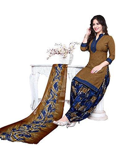Raghavjee Sarees women\'s printed unstitched Patiala crepe dress material salwar kameez kurta punjabi suit