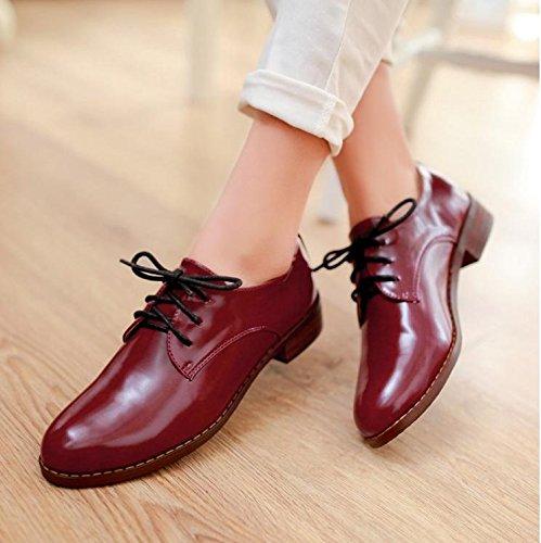 &zhou Bende basso basso 1-3cm scarpe donna moda comfort Roman style 35