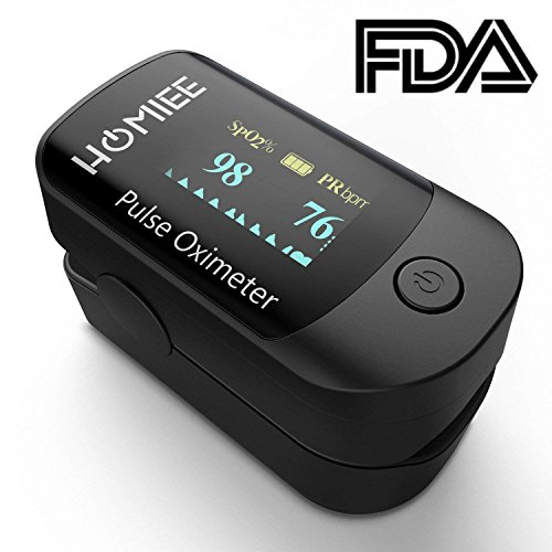 HOMIEE Finger Pulsoximeter,Oximeter Digitaler rotierenden OLED Bildschirm Messen Sauerstoffgehalt im Blut SpO2, Finger Herz Sauerstoffsättigung Herzfrequenz Monitor.