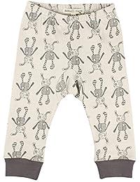 Small Rags bébé unisexe, pantalon taille élastique à motifs 100% coton, écru/gris, 60085 00-06