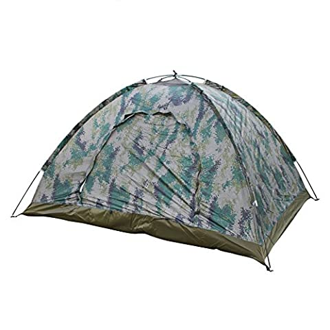 BXT 2 Person Camping Dome Tent Digital Camouflage Waterproof 2000mm Travel Hiking Tent