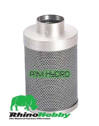 Rhino Hobby filtre à charbon 20,3 cm 200 mm x 600 mm 1125 M3/H hydroponie