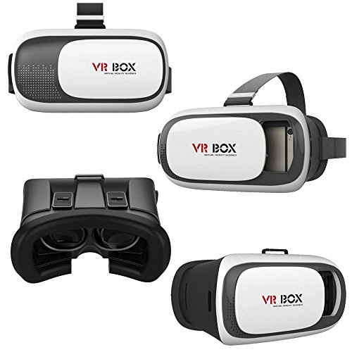 VR Headset VR BOX FREE VR Bluetooth Remote Controller Enhanced 2nd Gen  Virtual Reality VR 3D II Glasses With Adjustable Lens And Strap For 3 5-6 0