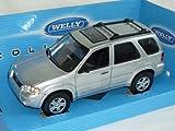 Ford-EscApe-Maverick-Limited-2005-Silber-Suv-124-Welly-Modellauto-Modell-Auto