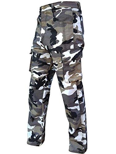 """Damen Motorrad-Hose/Cargo-Jeans - Kevlar - Protektoren - Grau Camouflage Gr. 48 - Bein: 30"""""""