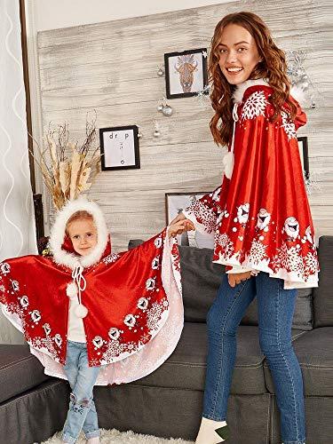 Damen Weihnachten Mit Kapuzen Umhang Kinder Hoodie Santa Mantel Cosplay Kostüm Moginp (Red, - Red Hoodie Weihnachten Kostüm