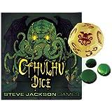 Steve Jackson Games 31320 - Cthulhu Dice Game mit deutschen Spielregeln, bone/rot