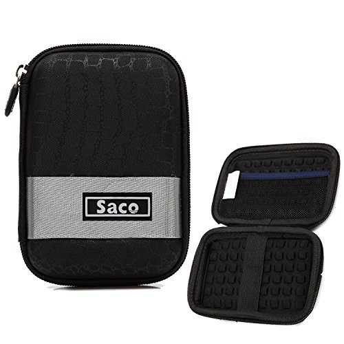 Saco External Hard Disk Hard Case Pouch Cover Bag for Silicon Power Stream 1 TB Wired External Hard Drive - Black  available at amazon for Rs.240