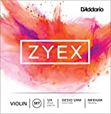 D\'Addario Bowed Jeu de cordes pour violon D\'Addario Zyex, manche 1/4, tension Medium