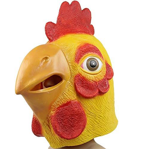 YaPin Halloween Karneval Latex Cock Mask Türkei Kopf Set Eagle Catch Chick Maske Happy Cock