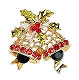 LAAT Broche de Campanas de Navidad Broche Mujer Adornos navideños Broche de la aleación