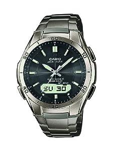 Reloj Casio WVA-M640TD-1AER y digital de cuarzo para hombre con correa de titanio, color gris de Casio