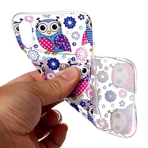 inShang iPhone X 5.8inch custodia cover del cellulare, Anti Slip, ultra sottile e leggero, custodia morbido realizzata in materiale del TPU, frosted shell , conveniente cell phone case per iPhone X 5. owls