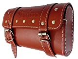 #7: Premium Quality Square Saddle Bag With Fancy Button For Royal Enfield Brown