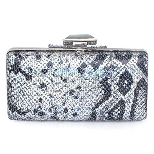Damen Abendessenbeutel PU-Leder-Handtaschen Neue Mädchen Kleine Tasche Diamant Black
