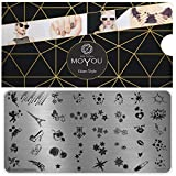 MoYou XL Glam piatti collezione 4, stelle disegni, fiori eleganti, cuori, disegni estivi