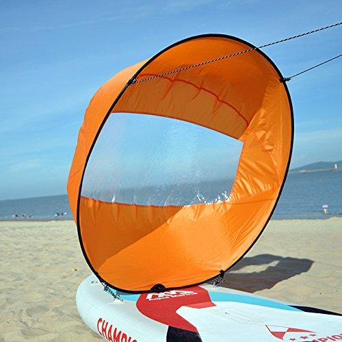 HOOMYA™ 42'' Abwind Kajak Segel Paddel, Kanu Segel INSTANT Kit - Einfaches Setup & Schnell einsetzbar & Tragbar & Kompakt (Orange)