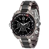 Lugano LG 1029 Black & Grey Metal Analog...