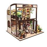 LINAG Puppenhaus Häuser Minipuppen DIY Mini-Szene Spielzeug Möbel Village Zubehör Szenenspielzeug Villa Gebäudemodell Geburtstagsgeschenk