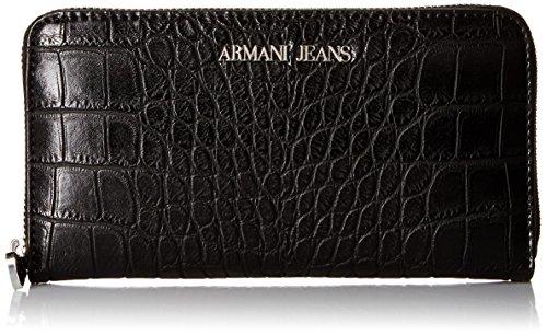Armani Jeans Borsa Effetto Coccodrillo Di Da Donna Unica Taglia Nero