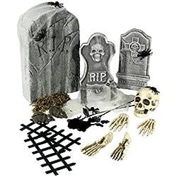 Decoración de Halloween de cementerio accesorios terror