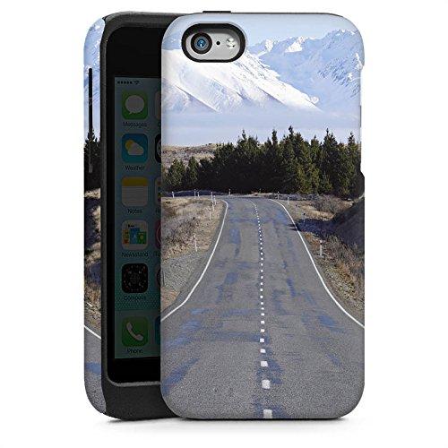 Apple iPhone 4 Housse Étui Silicone Coque Protection Paysage Rue Montagnes Cas Tough brillant