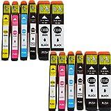 12x Drucker Patronen IBC für Epson E 33XL Expression Premium XP-530 XP-540 XP-630 XP-635 XP-640 XP-830 XP-900 T-3351 / 3361-3364 NEU