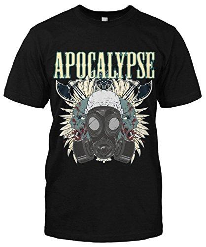Apocalypse T-Shirt neu Gasmask Comic Fun Blood Horror Rockabilly Vintage War Schwarz
