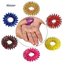 10pcs/set Stainless Steel Finger Massage Ring + 1pcs/hand acupuncture point figure Massager Relax Finger Hand Care