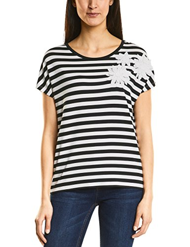 Street One Damen T-Shirt 311921, Mehrfarbig (Off White 20108), 40