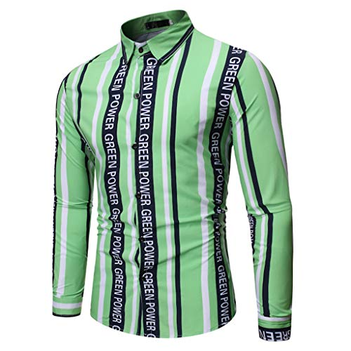 Realde Herren Langarmshirt Hemd T-Shirt Mode Freizeit Farbe 3D Druck Knopf Langarmshirt Passt super auch zur Jeans Männer Herbst und Winter BequemTops Oberteil -