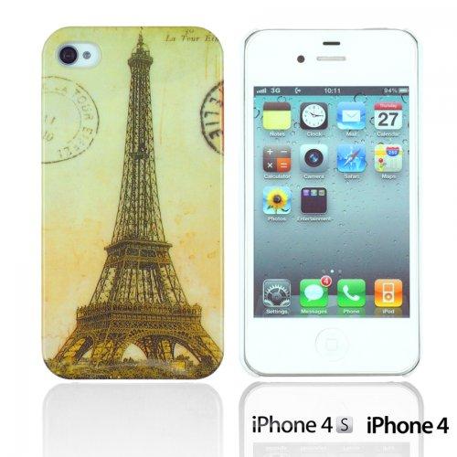 OBiDi - Designer Hard Case Cover / Housse pour Apple iPhone 4S / Apple iPhone 4 - Game Boy Eiffel