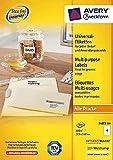 AVERY Zweckform Universal-Etiketten/3483-200 weiß Inhalt 800 Stück