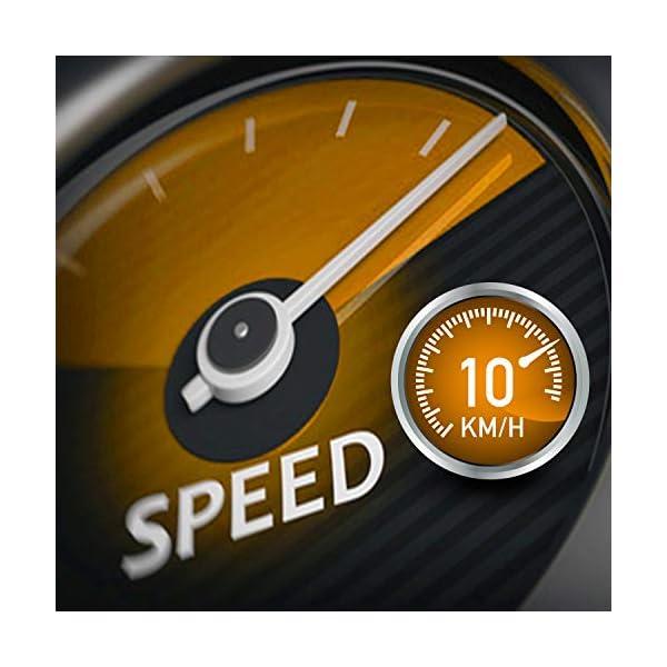 Tapis ROULANT Elettrico Pieghevole Bluetooth (1800W / 2,5HP Picco), App KINOMAP Coaching Multiplayer, 10 KM/H, Sensore… 3 spesavip