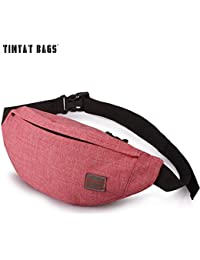 Buyworld Tinyat Casual Men Fanny Bag Women Shoulder Waist Pack Bag Pouch Travel Hip Bum Bag Canvas Belt Bag Fit...
