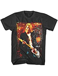 Kurt Cobain Nirvana You Know You're Right Grunge Rock Official Black Mens Tshirt