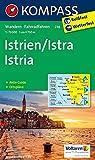 Istrien / Istra / Istria: Wanderkarte mit Aktiv Guide, Radrouten und Ortsplänen. 1:75000 (KOMPASS-Wanderkarten, Band 238) -